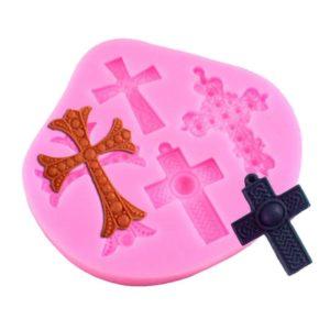 molde silicona x 4 cruces