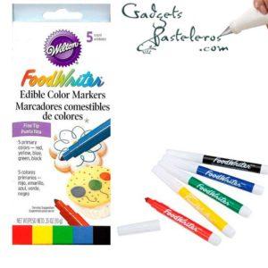 marcador comestible wilton colores primarios