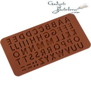 molde silicona alfabeto chocolate producto