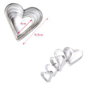 corazones x 5 metal