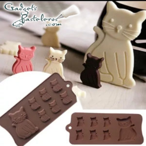 Molde Silicona chocolate gatitos