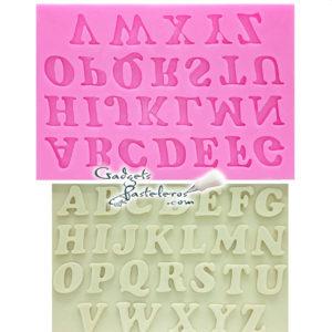 alfabeto mayusculas silicona