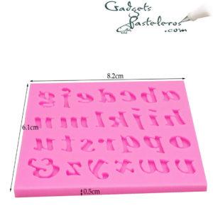alfabeto mayusculas silicona medidas