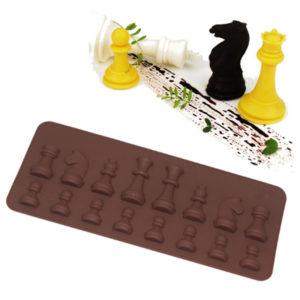 molde silicona ajedrez
