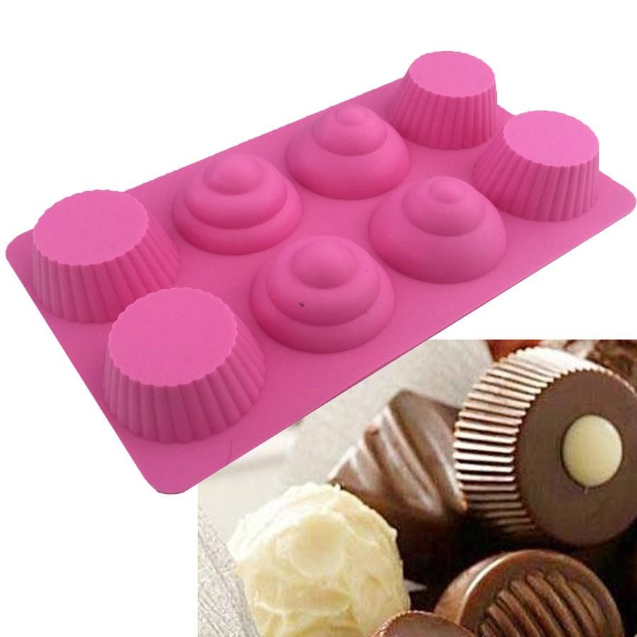 Molde silicona chocolate dise o cupcakes gadgets pasteleros - Moldes cupcakes silicona ...