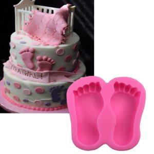 molde silicona pies bebe