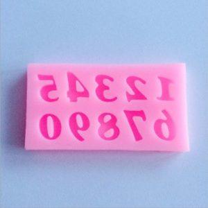 molde pequeño silicona numeros