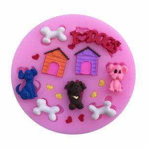 molde silicona mini dogs