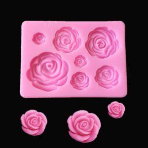 molde mini rosas silicona