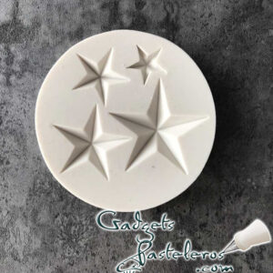 molde silicona estrellas 5 puntas