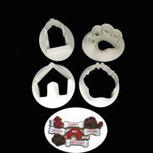 set cortadores tematica perritos