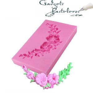 diseno molde silicona arco floral