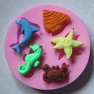 molde mini animales marinos