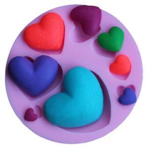 molde corazones pop