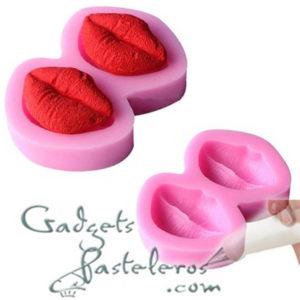 molde silicona labios