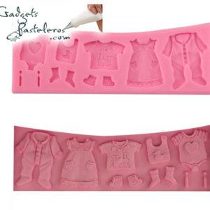 molde silicona vestido de bebe