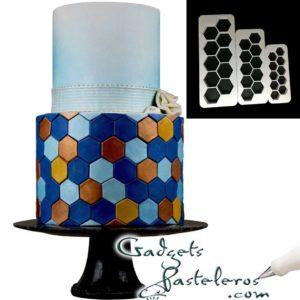 set regletas cortadoras hexagonos x 3