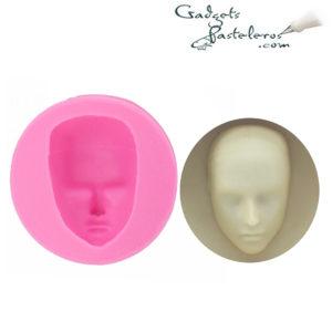 molde silicona rostro hombre