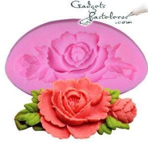 molde silicona rosa con rama