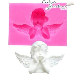 molde silicona angel manos en el rostro