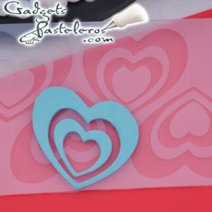 molde silicona corazones dobles terminado