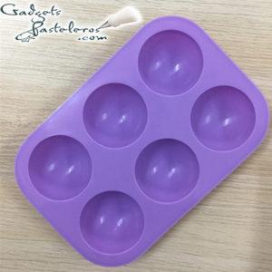 molde silicona medio esferas