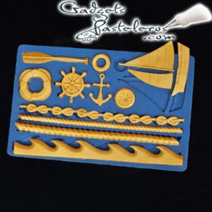 Molde silicona tematico naval