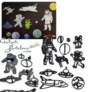 producto terminado set cortadores espacial