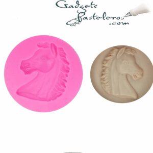 molde silicona cabeza caballo