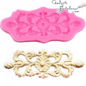 molde silicona arabesco floral