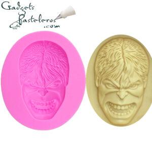 molde silicona rostro hulk
