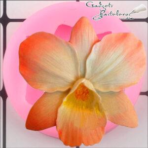 orquidea terminada molde silicona