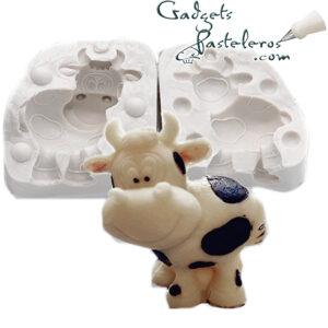 diseno molde silicona vaca
