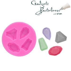 molde silicona gemas diseño