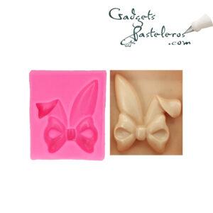 molde silicona moño con orejas conejo1