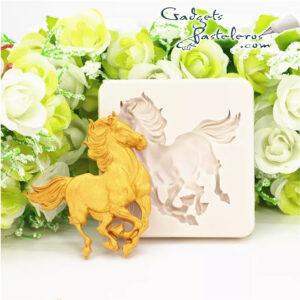 molde silicona caballo galope