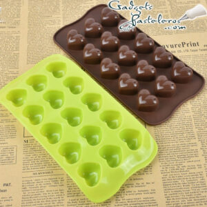 molde silicona corazones para chocolates
