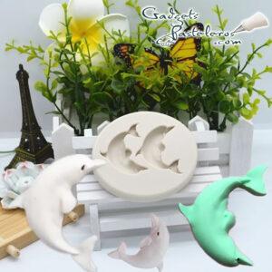 molde silicona delfines
