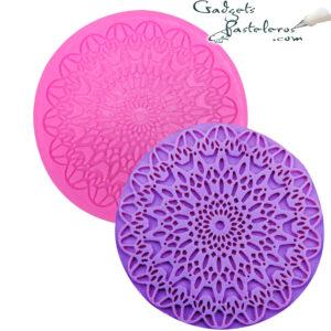 molde silicona encaje circular
