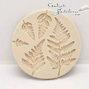 molde silicona hojas helecho